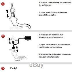 DTE Système Pedal Box 3S pour Opel Meriva A 2003-2010 1.4L 16V Twinport R4 66KW