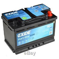 Exide EK700 70Ah AGM Start Stop Batterie de Voiture Micro-Hybrid
