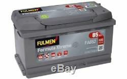 FULMEN Batterie de démarrage 85ah / 800A Pour RENAULT ESPACE BMW Série 1 FA852