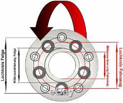 H&R Adaptateurs Cercle à trou 5x98mm/58,0 sur jante 5x130mm/71,6 40mm 40195580