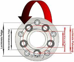 H&r Adaptateurs Cercle à Trou 5x98mm/58,0 sur Jante 5x100mm/57,1 40mm 40125580