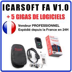 ICarsoft FA V1.0 Valise Diag PRO OBD2 pour Fiat + Alfa Roméo MULTIDIAG