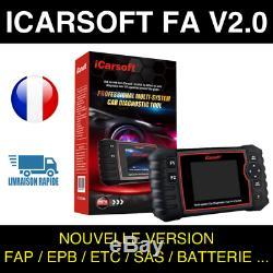 ICarsoft FA V2.0 Valise Diag PRO OBD2 compatible Fiat Alfa Roméo SNOOPER DS150
