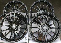 Jantes en Alliage X4 18 Noir Fx004 pour 5x98 Alfa Romeo 147 156 164 Gt Fiat