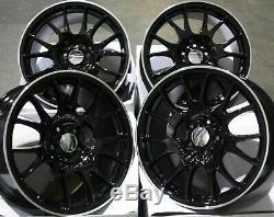 Jantes en Alliage X4 18 Noir P Ch pour 5x98 Alfa Romeo 147 156 164 Gt Fiat