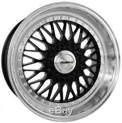 Jantes en Alliage X4 18 Vintage Noire pour 5x98 Alfa Romeo 147 156 164 Gt Fiat