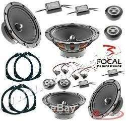 Kit 8 HP enceintes haut-parleurs FOCAL pour FIAT / ALFA ROMEO avec adaptateurs