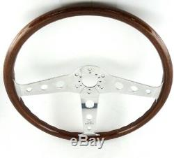 Original Peretti 390mm Contour en Bois Direction Roue Beau! Alfa Romeo Fiat. 7e