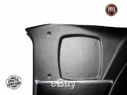 Paire Capot Étui pour Cartes Plancher Fiat 124 Spider 66-85 Noir Droite à Gauche