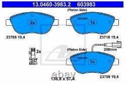 Plaquettes de Frein Kit Et Disques Avant ATE Fiat Bravo II (198) 1.6 D Mjt