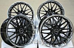 Roues Alliage 18 CRUIZE 190 Bp Noir Diamant Coupe Bague Deep Dish 5X108