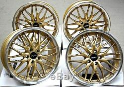 Roues Alliage 18 CRUIZE 190 Gdp Or Poli Deep Dish 5X108 18 INCH