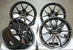 Roues Alliage 18 Cruize Gto GM Concave Gunmetal Rayons Y 5X110 18 Pouces De