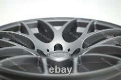 Roues Alliage X 4 18 GM Radium pour Alfa Romeo 159 Jeep Cherokee Saab 9-3