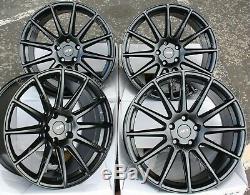 Roues Alliage X 4 18 Noir Ayr 02 pour 5X98 Alfa Romeo 147 156 164 Gt Fiat 500L