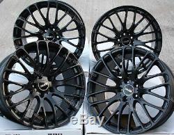 Roues Alliage X 4 19 Noir 170 pour Alfa Romeo 159 Jeep Cherokee Saab 9-3 5X110