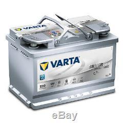 Varta E39 Argent Dynamique AGM 570 901 076 Batterie de Voiture 70Ah Prêt à